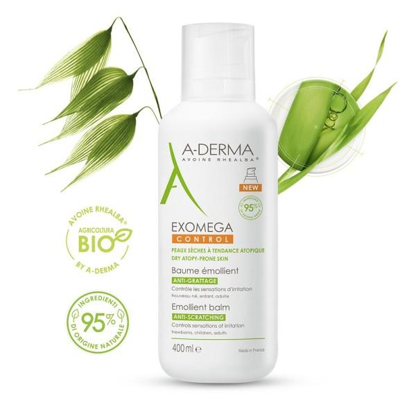 A-Derma Exomega Control Balsamo Emolliente Sterile Anti-Grattage 400 ml