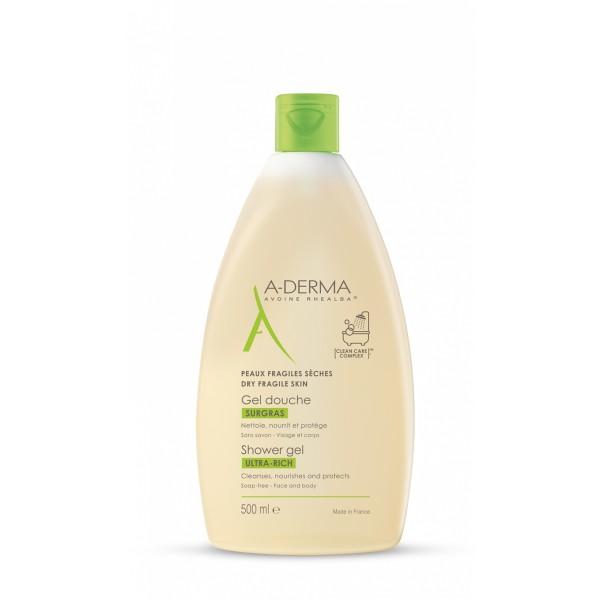 A-Derma Les Indispensables Gel Doccia Surgras 500 ml