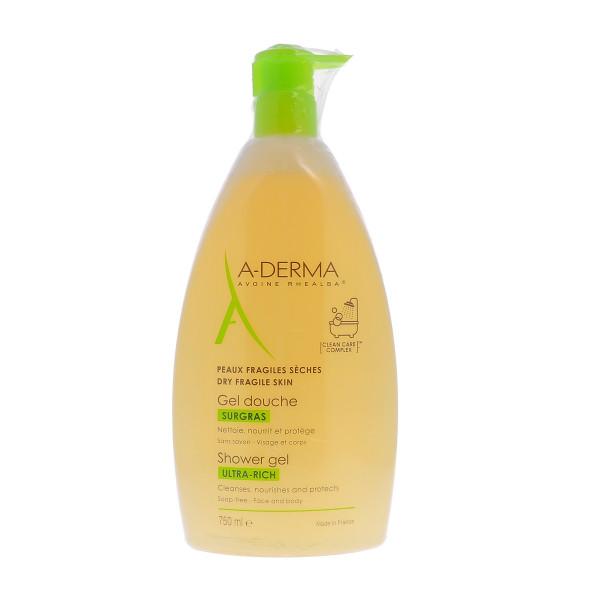 A-Derma Les Indispensables Gel Doccia Surgras 750 ml