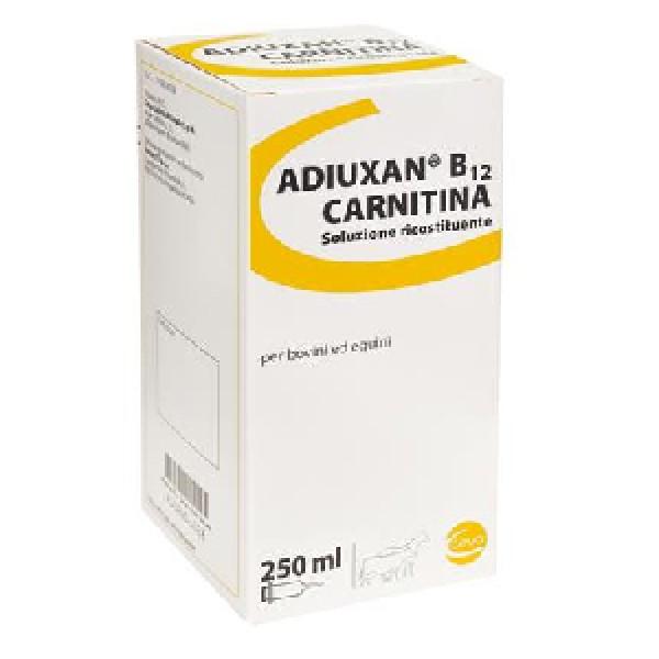 Adiuxan B12 Carnitina Flacone 250 ml - Soluzione Ricostituente per Bovini ed Equini