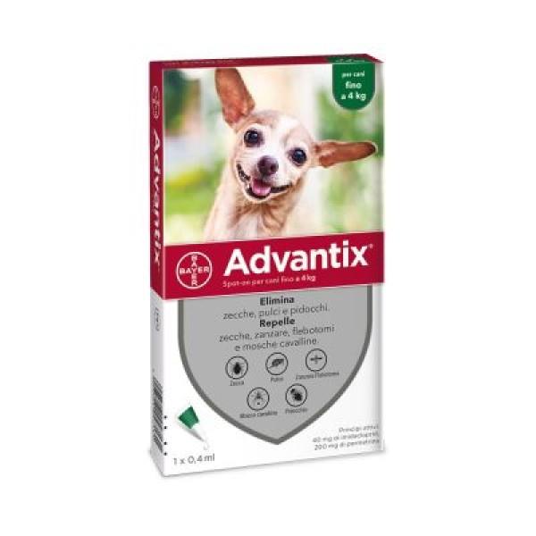 Advantix Spot-On Cani fino a 4 kg 1 Pipetta Monodose
