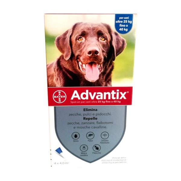 Advantix Spot-On Oltre 25 Kg 4 Pipette Monodose