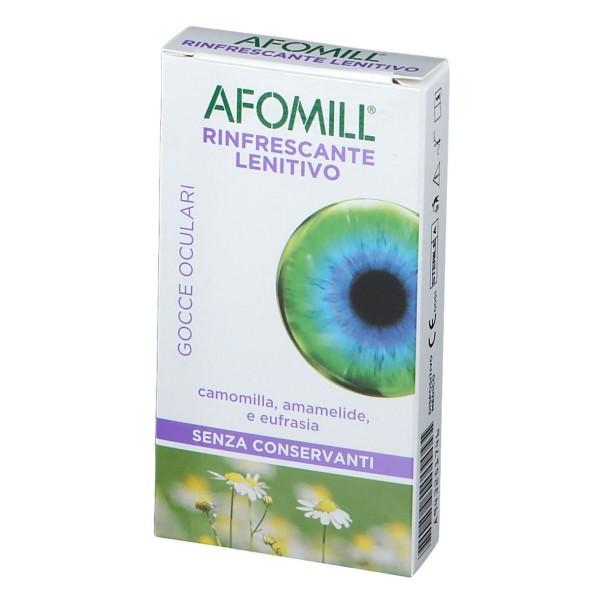 Afomill Rinfrescante e Lenitivo Gocce Oculari 10 Flaconcini Monodose