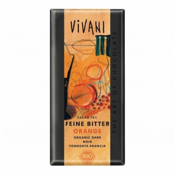 Alce Nero Barretta di Cioccolato Fondente Arancia 100 grammi