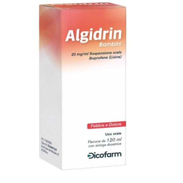 Algidrin Bambini Ibuprofene per Febbre e Dolore 120 ml