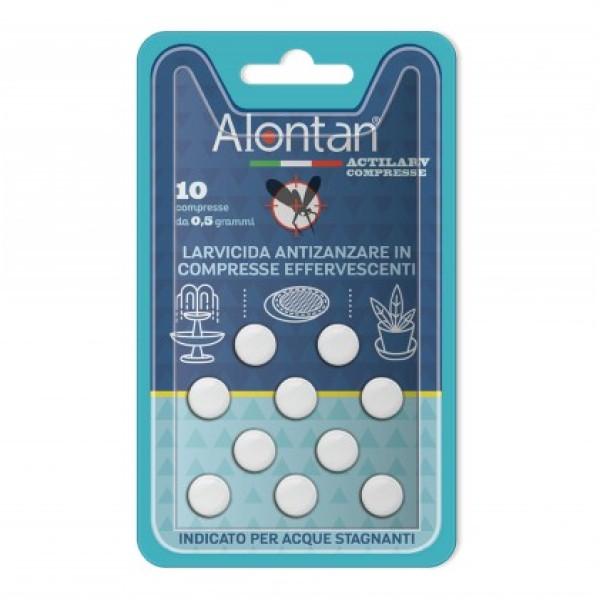 Alontan Actilarv 10 Compresse - Larvicida Antizanzare in Compresse Effervescenti