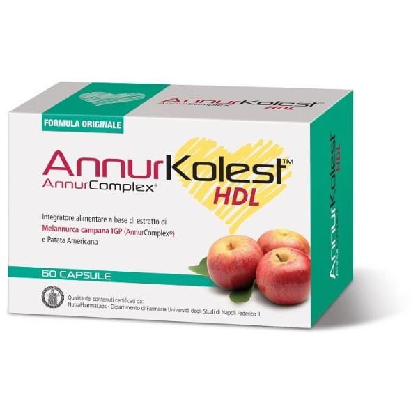 AnnurKolest 60 Capsule - Integratore Metabolismo dei Trigliceridi e Colesterolo