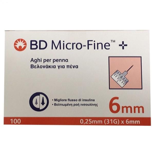 BD Microfine Aghi per Siringhe di Insulina 31G 6 mm 100 pezzi