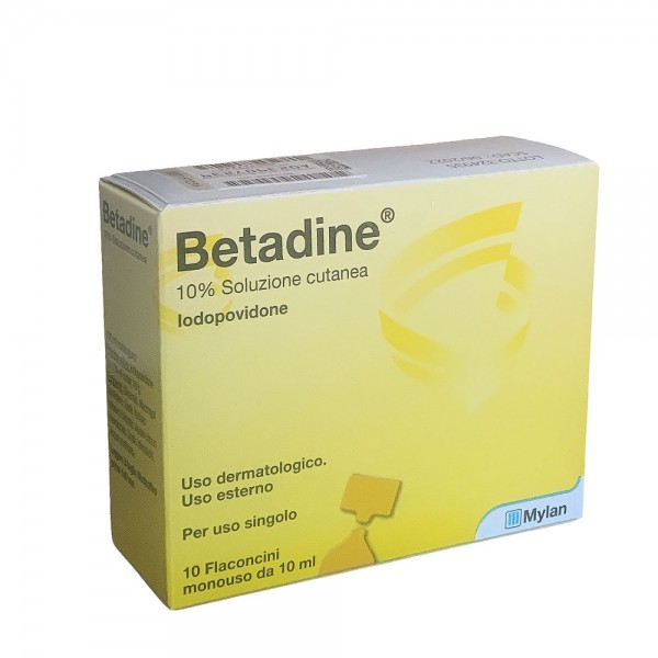 Betadine 10% Soluzione Cutanea 10 Flaconcini da 5 ml