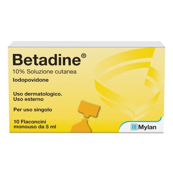 Betadine 10% Soluzione Cutanea 10 Flaconcini da 10 ml