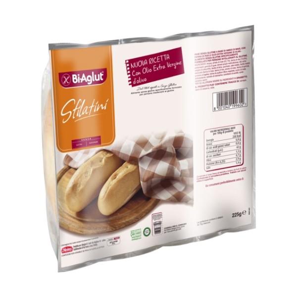 Biaglut Il Pane Soffice Sfilatini Senza Glutine 3 x 75 grammi