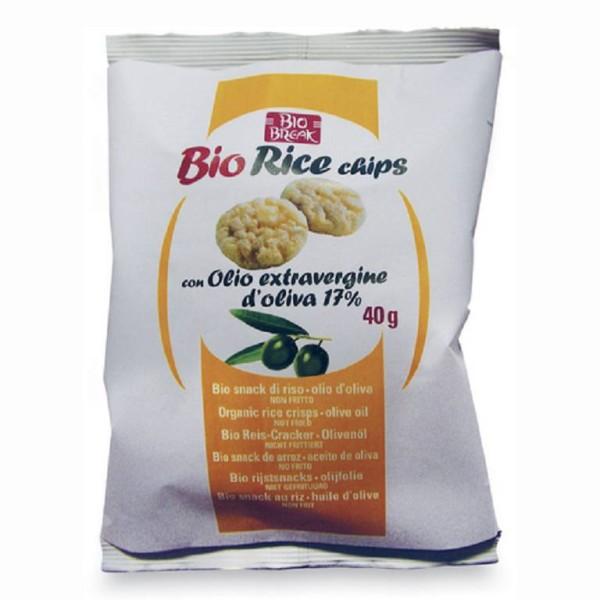 Baule Volante BioBreak Rice Chips all' Olio Extravergine di Oliva 40 grammi