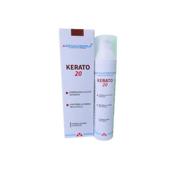 Braderm Kerato20 Crema Cute Ispessita 100 ml