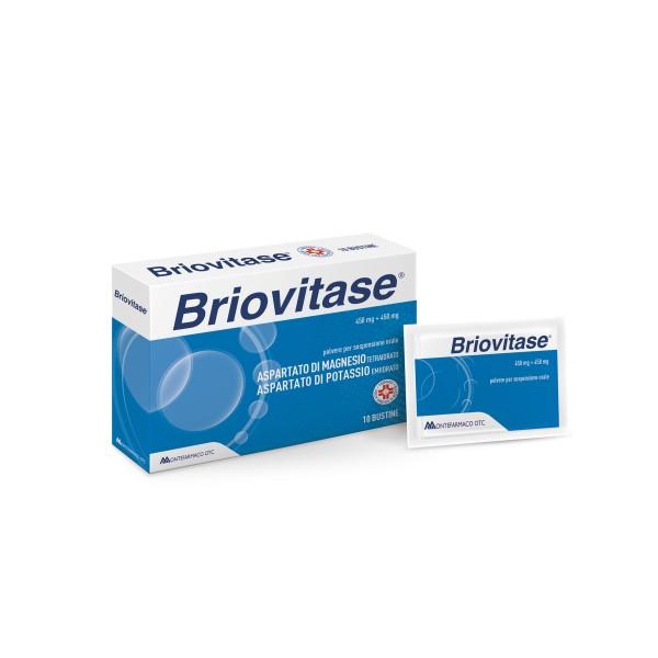Briovitase 10 Bustine - Integratore Magnesio e Potassio 450 mg + 450 mg