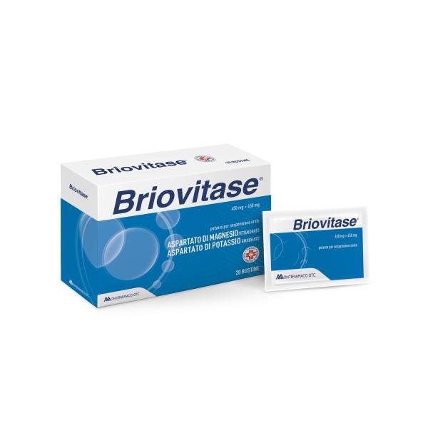 Briovitase 20 Bustine - Integratore Magnesio e Potassio 450 mg + 450 mg