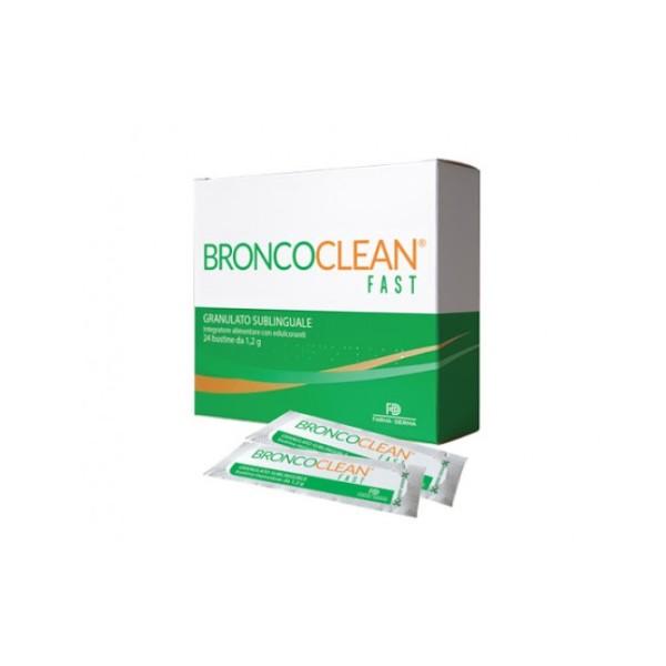 Broncoclean Polvere 24 Bustine - Integratore Benessere Vie Respiratorie