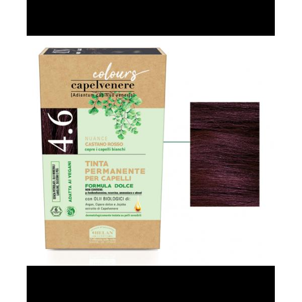 Capelvenere Tinta per Capelli 4,6N Castano Rosso 125 ml