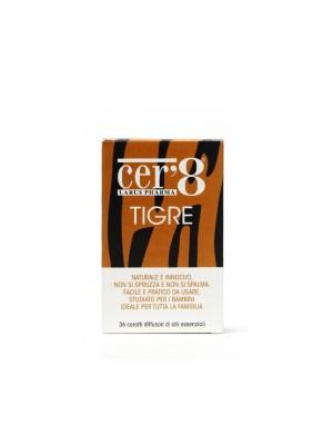 Cer'8 Tigre Diffusori di Oli Essenziali Antizanzare 36 Cuscinetti