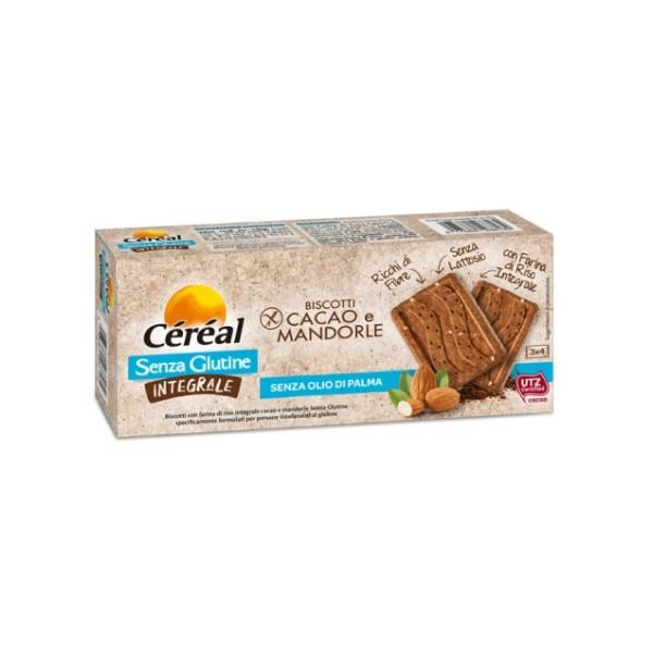 Cereal Biscotti Integrali Gusto Cacao e Mandorle Senza Glutine 150 grammi