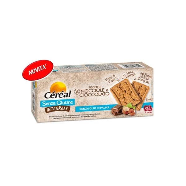 Cereal Biscotti Integrali Gusto Nocciola e Cioccolato Senza Glutine 150 grammi