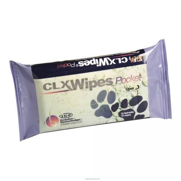 Clorexyderm Wipes Pocket Salviette Disinfettanti Cani e Gatti 15 pezzi