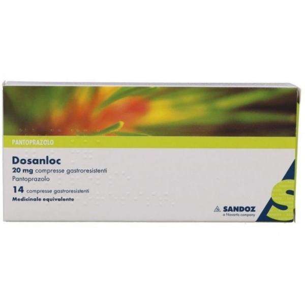 Dosanloc 20 mg Sandoz 14 Compresse - Pantoprazolo Reflusso