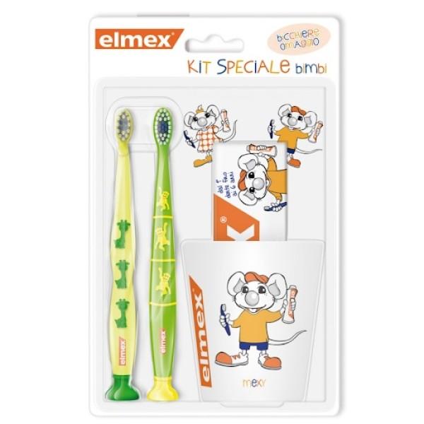 Elmex Kids Kit 2 Spazzolini + Tazza + Dentifricio
