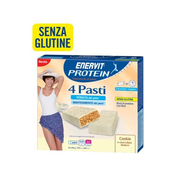 Enervit Protein 4 Pasti Barrette Sostitutive Pasto Cookie 8 pezzi