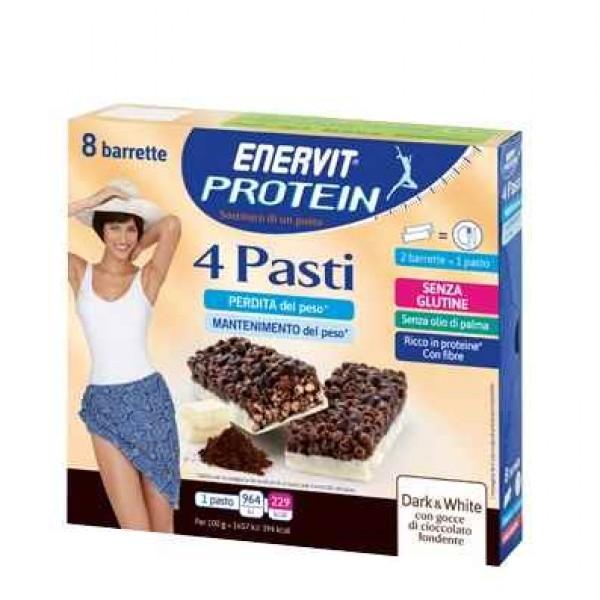 Enervit Protein 4 Pasti Barrette Sostitutive Pasto Dark & White 29 grammi