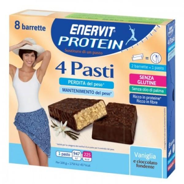 Enervit Protein 4 Pasti Barrette Sostitutive Vaniglia 216 grammi