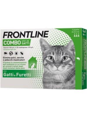 Frontline Combo Soluzione Spot-On Gatti 3 Pipette Monodose