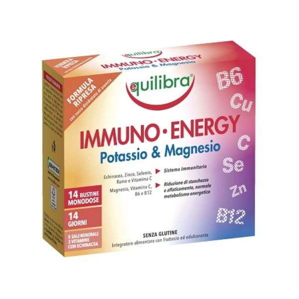 Equilibra Immuno Energy Potassio & Magnesio 14 Bustine - Integratore Difese Immunitarie