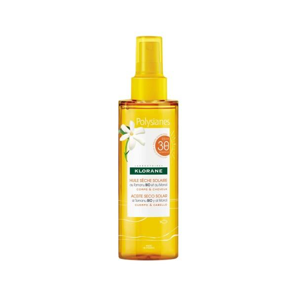 Klorane Polysianes Olio Secco Solare SPF 30 Corpo e Capelli 200 ml