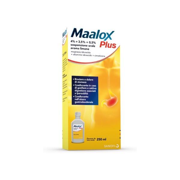 Maalox Plus Sospensione Antiacido e Gonfiore 250 ml