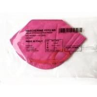 Mascherina Filtrante Antivirus CE0370 Italhealth FFP2 KN95 Filtraggio 95% Colore Fucsia 1 pezzo