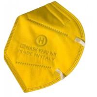 Mascherina Filtrante Antivirus CE0370 Italhealth FFP2 KN95 Filtraggio 95% Colore Giallo 1 pezzo