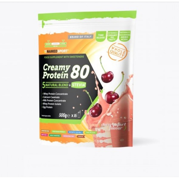 Named Sport Creamy Protein 80 Cherry Yogurt Blend Proteico 500 grammi