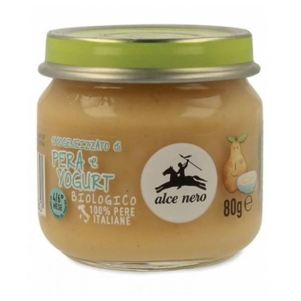 Alce Nero Omogeneizzato Pera con Yogurt Biologico 80 grammi