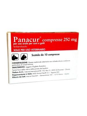 Panacur Cani e Gatti 250 mg 10 compresse - Medicinale Veterinario Antiparassitario Intestinale