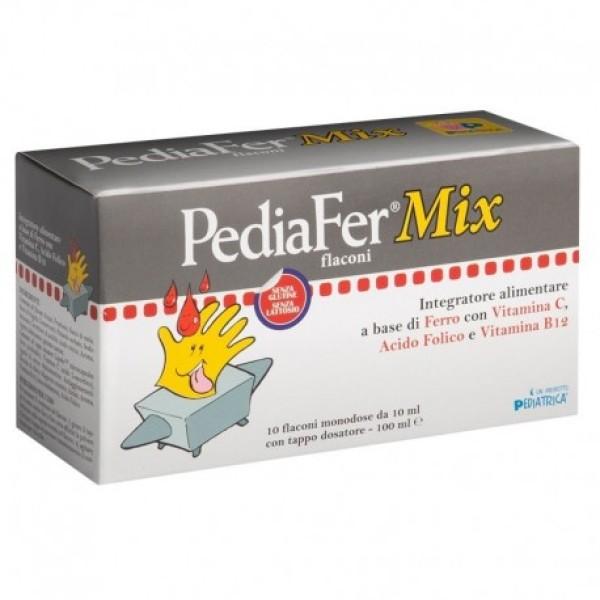 Pediafer Mix 10 Flaconcini - Integratore Alimentare