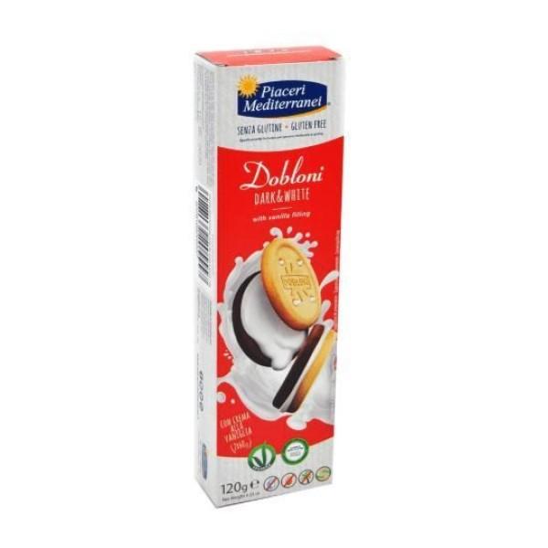Piaceri Mediterranei Biscotti Dobloni Dark & White Senza Glutine 120 grammi