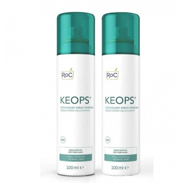 Roc Keops Bundle Deodorante Spray Fresco 48H 2x100ml