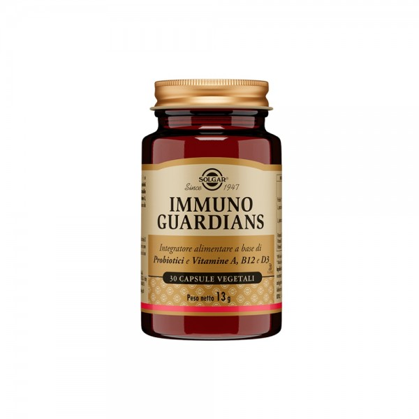 Solgar Immuno Guardians 30 Capsule - Integratore di Probiotici e Vitamine