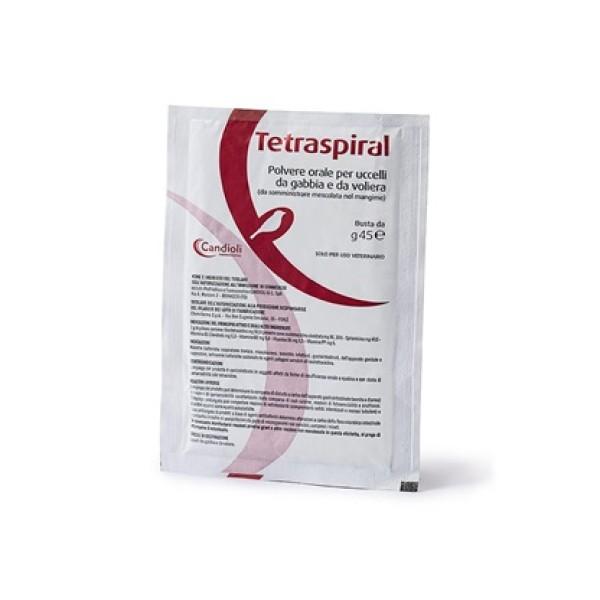Tetraspiral Bustina 45 grammi - Premiscela per Alimenti Medicamentosi per Uccelli