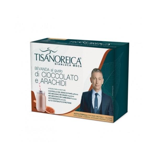 Tisanoreica Bevanda al Cioccolato e Arachidi 4 x 30 grammi