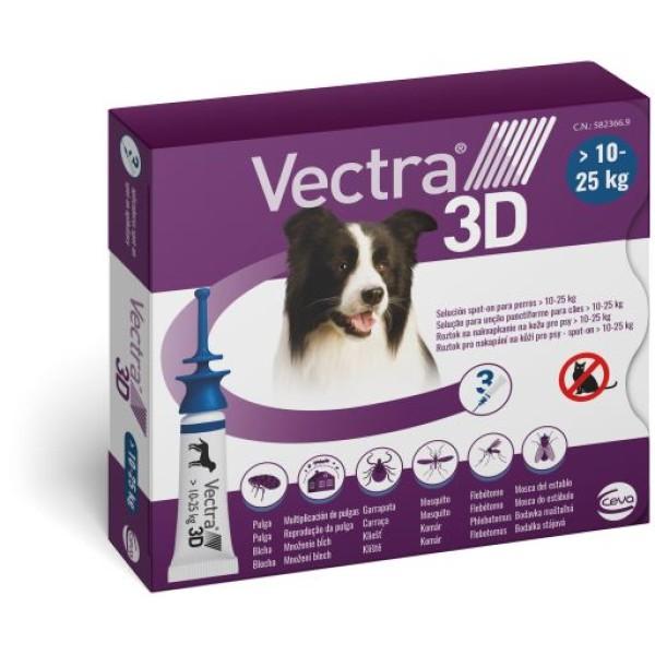 Vectra 3D Blu Spot-On Cani da 10 a 25 kg 3 Pipette Monodose