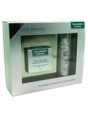 Somatoline Comsetic Vital Beauty Cofanetto Crema Giorno 50 ml + Spray Scudo 50 ml