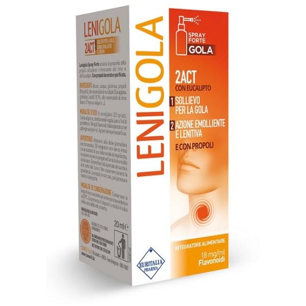 Lenigola Spray Forte Integratore per Mal di Gola 20 ml