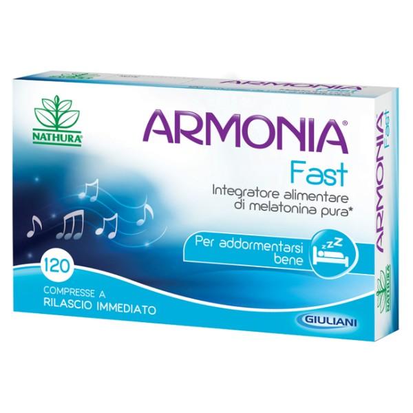 Armonia Fast Integratore Alimentare Melatonina 1mg 120 compresse