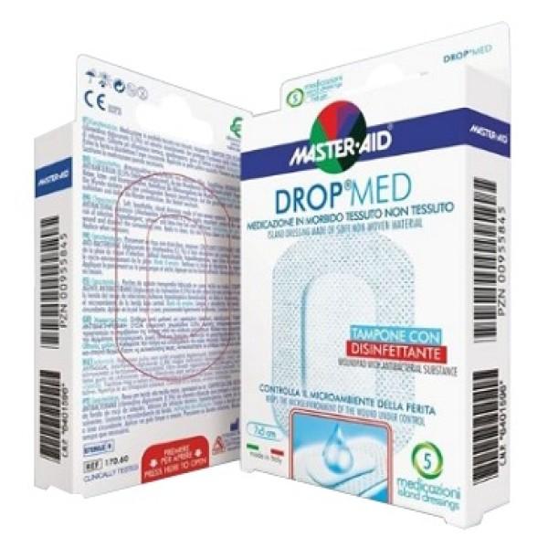 Master-Aid Dropmed Compressa di Garza Autoadesiva 7 x 5 cm 5 Pezzi